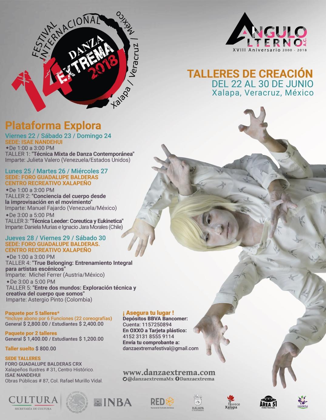cartel talleres DanzaExtrema 2018